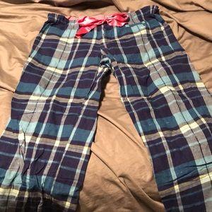 Pink Victoria's Secret flannel plaid sleep pants